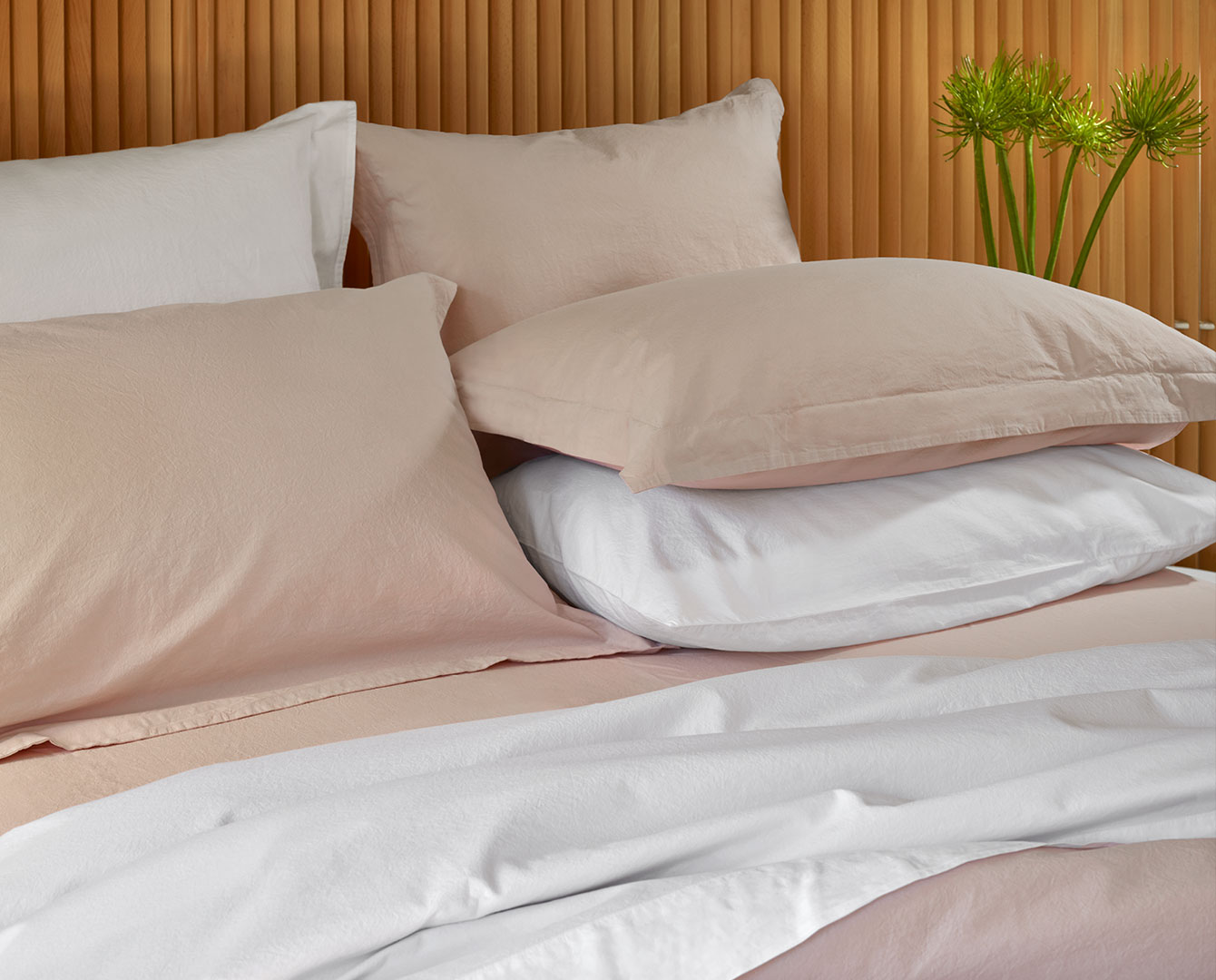 200 Percale Pink White