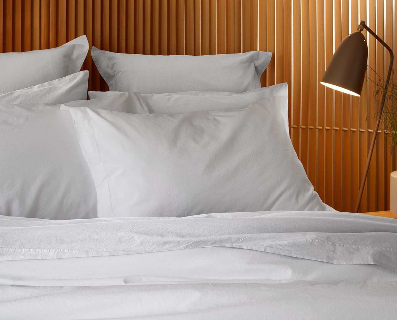 200TC Stonewashed Percale Fitted Sheet