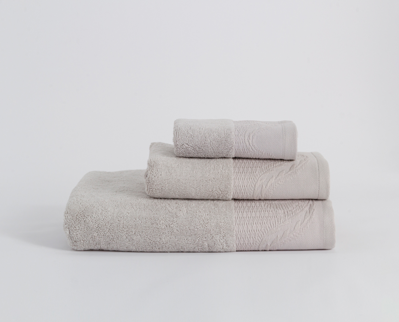 Cotton Essential Bath Set - Grey