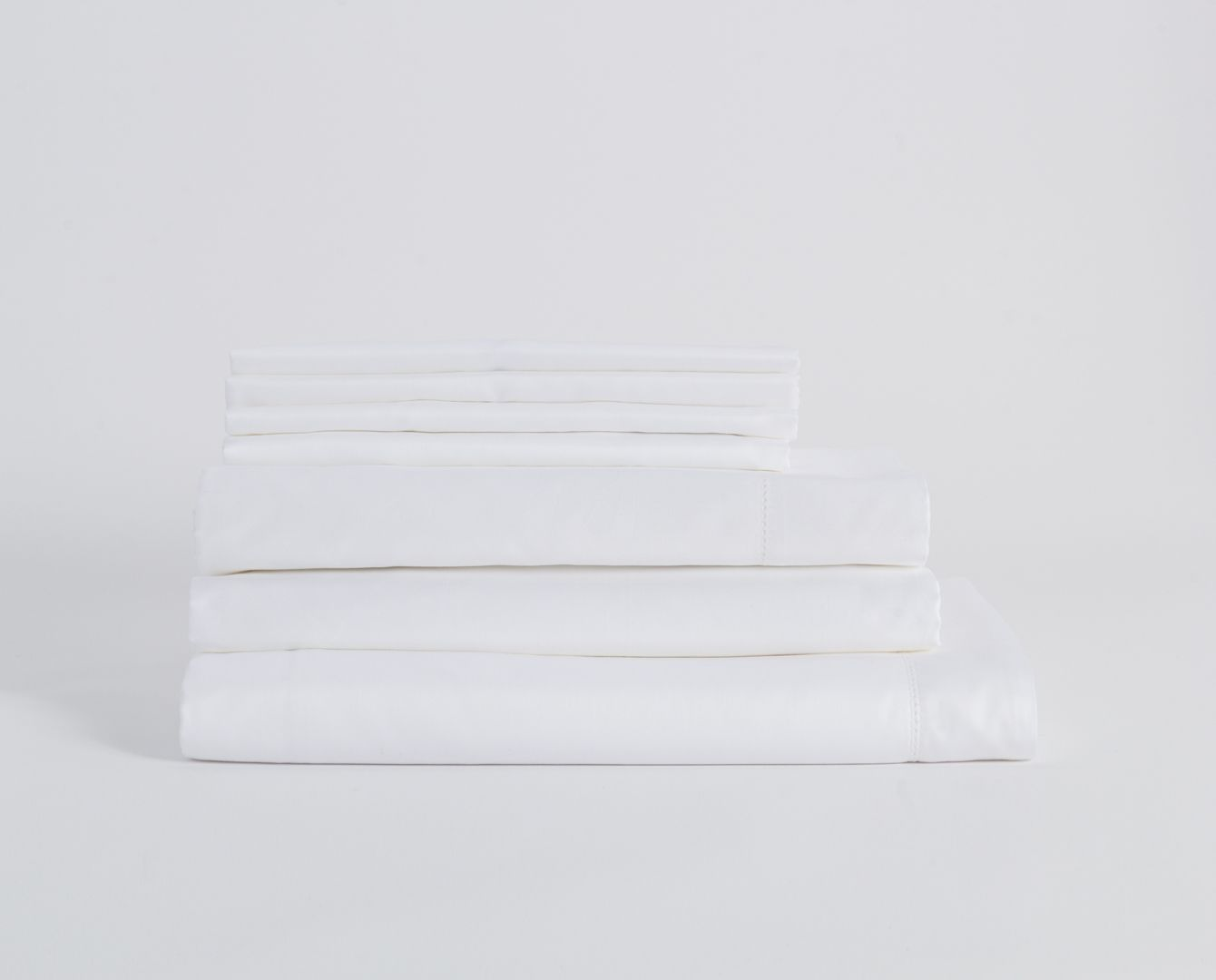 430TC Sateen Bedding Set - White
