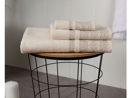 Cotton-Linen Floral Towel Set